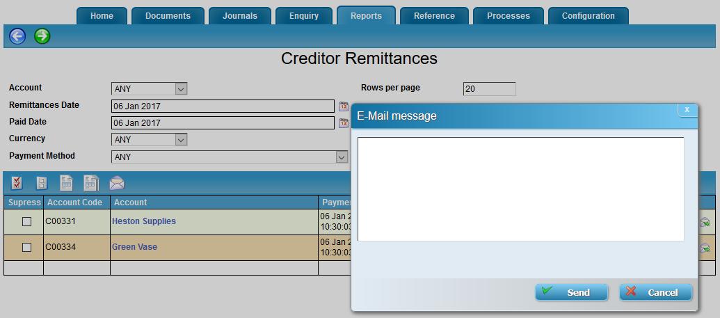 Creditor Remittances